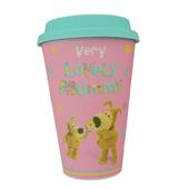 Boofle Mummy Bamboo Travel Mug With Silicone Lid & Band