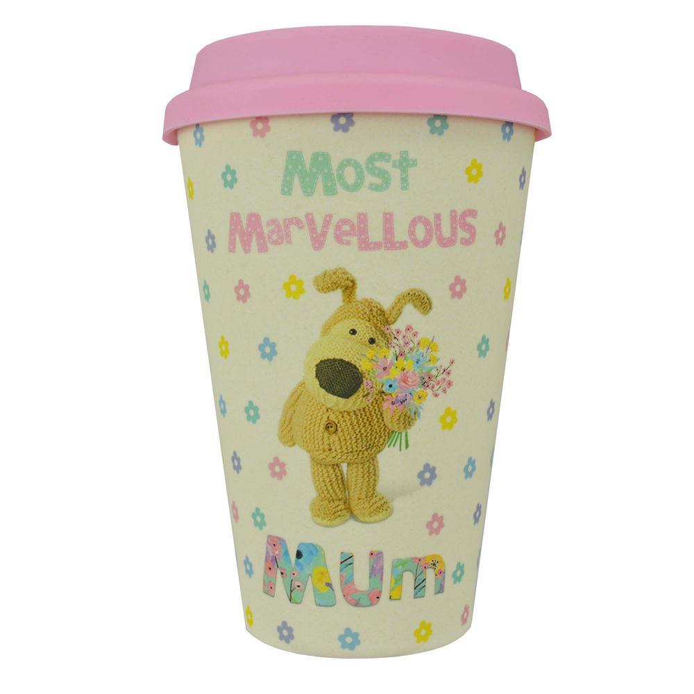 Boofle Mum Bamboo Travel Mug With Silicone Lid & Band