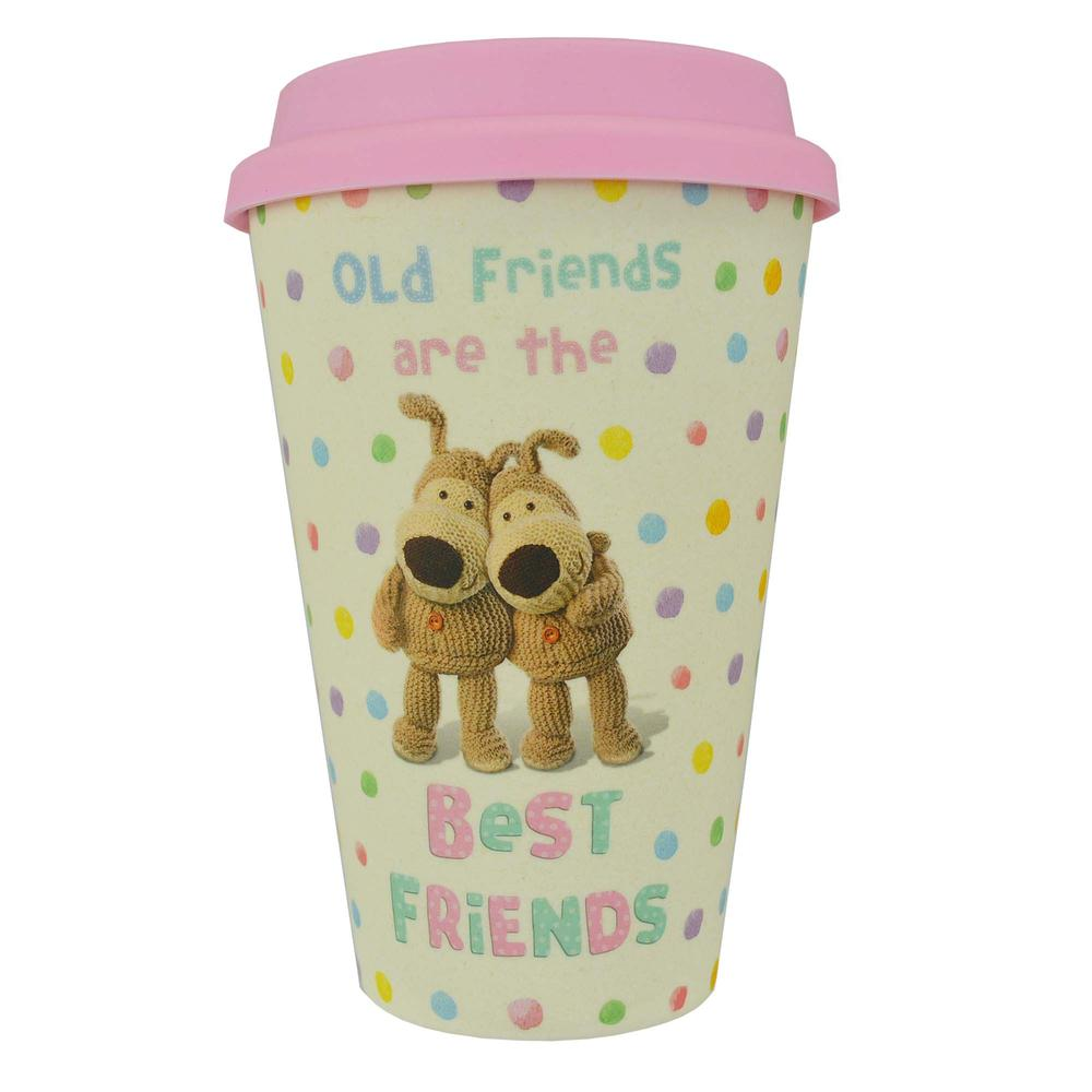 Boofle Best Friends Bamboo Travel Mug With Silicone Lid & Band