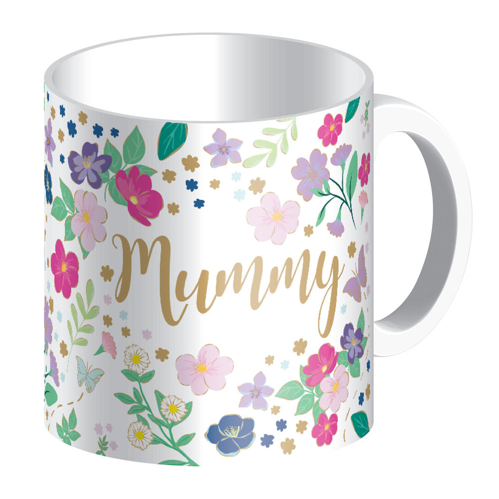 Mummy Mug In Gift Box Pretty Flowers & Butterflies Design