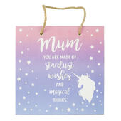 Mum Magical Unicorn Hanging Wooden Plaque With Ribbon
