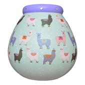 Llama Pattern Pots of Dreams Money Pot
