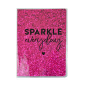 Sparkle Everyday Pink Glitter Lined A5 Notebook