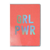 GRL PWR Pink Glitter Lined A5 Notebook