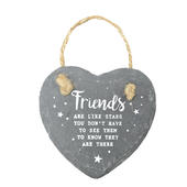 Friends Are Like Stars Mini Heart Shaped Hanging Slate Plaque