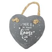 No Place Like Home Mini Heart Shaped Hanging Slate Plaque