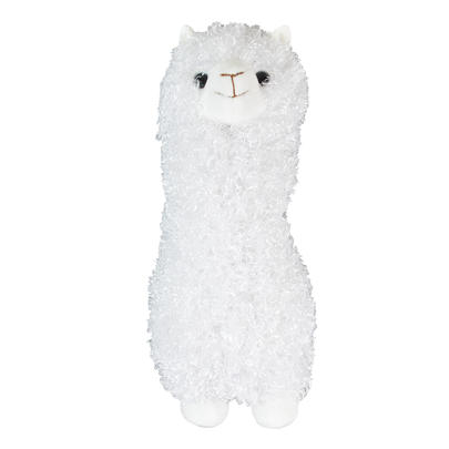 Fluffy White Llama Plush Toy Gift Idea Super Soft 28cm Tall