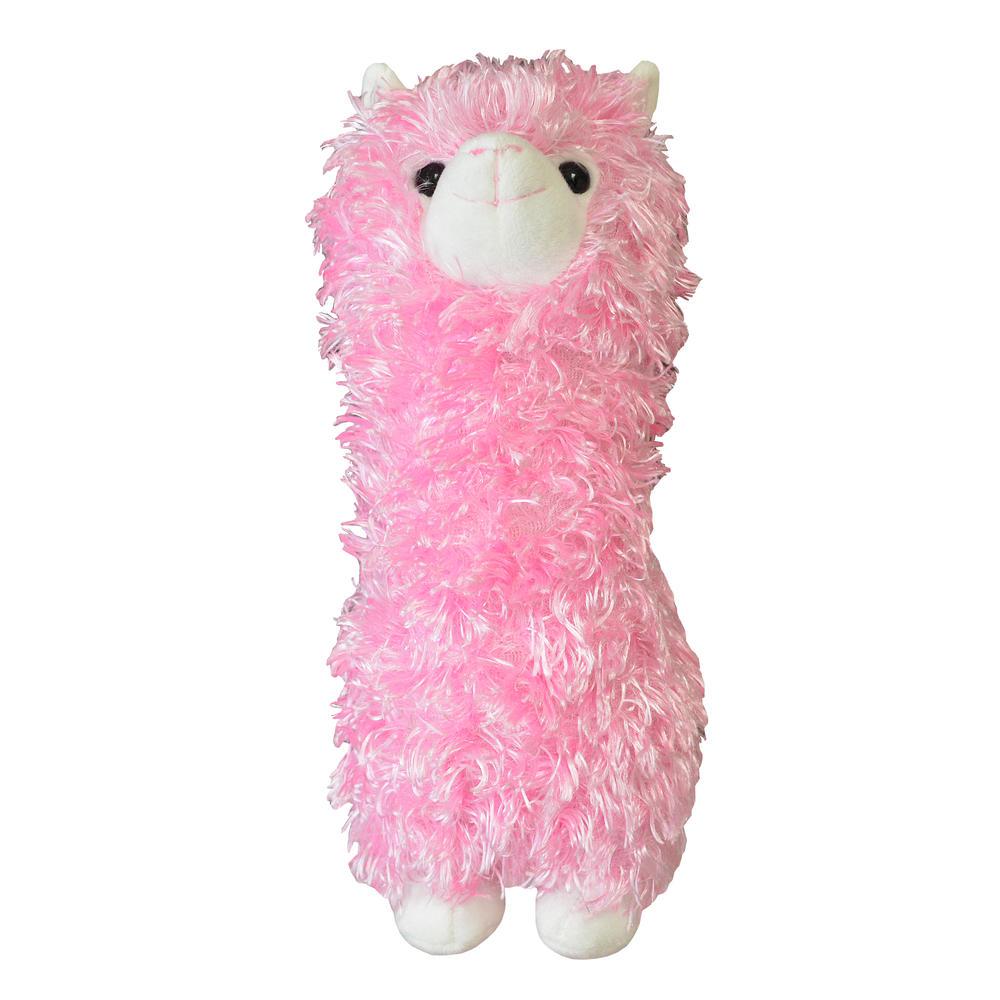 Fluffy Pink Llama Plush Toy