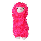 Fluffy Hot Pink Llama Plush Toy
