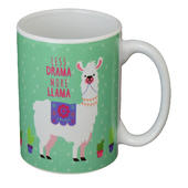 Less Drama More LLama Ceramic Mug