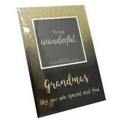 "Grandma's Like You  Glass 4"" x 4"" Freestanding Photo Frame"