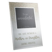 "Mother & Daughter  Glass 4"" x 4"" Freestanding Photo Frame"