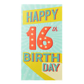 16th Birthday Celebrate In Style Chocolate Bar & Card In One