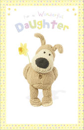 Boofle Daughter Easter Greeting Card