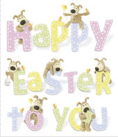 Boofle Easter Greeting Card Happy Easter To You