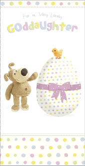 Boofle Lovely Goddaughter Easter Greeting Card