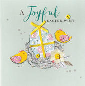 A Joyful Easter Wish Greeting Card Buttoned Up