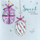 Sweet Easter Wishes Greeting Card Buttoned Up