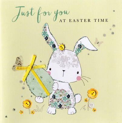 Just For You At Easter Time Greeting Card Buttoned Up