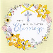 Special Easter Blessings Greeting Card Buttoned Up