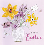 Happy Easter With Love Greeting Card Buttoned Up