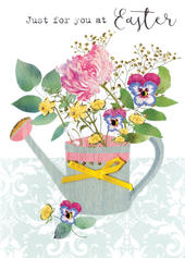 Just For You At Easter Greeting Card Spring Time Embellished Card