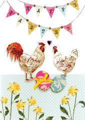 Happy Easter Greeting Card Spring Time Embellished Card