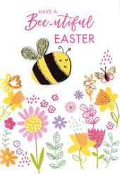 Have A Bee-utiful Easter Card Cute Hello You Embellished Card