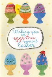 Wishing You An Eggs-tra Special Easter Card Hello You Embellished Card