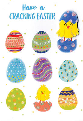 Have A Cracking Easter Card Cute Hello You Embellished Card