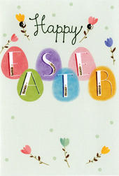Happy Easter Greeting Card Cute Hello You Embellished Card
