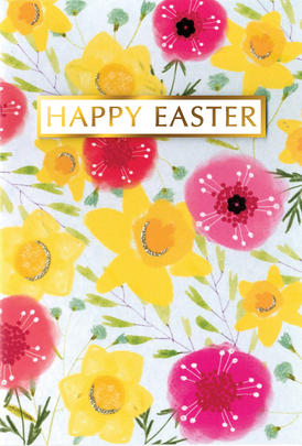 Happy Easter Card Cute Hello You Embellished Card