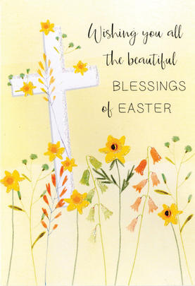 Beautiful Blessings Of Easter Card Cute Hello You Embellished Card