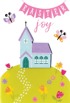 Easter Joy Easter Greeting Card Cute Hello You Embellished Card