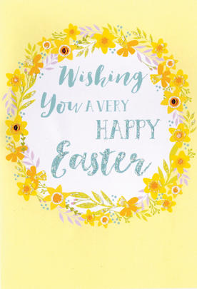 Wishing You A Very Happy Easter Card Cute Hello You Embellished Card