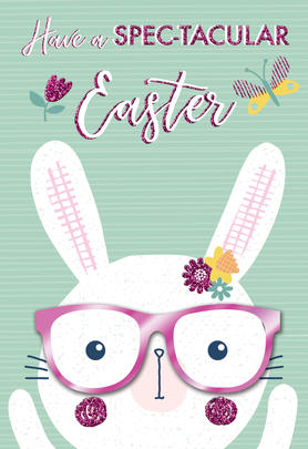 Have A Spec-Tacular Easter Card Cute Hello You Embellished Card