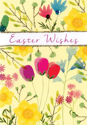 Easter Wishes Card Cute Hello You Embellished Card