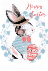 Hoppy Easter Card Cute Hello You Embellished Card