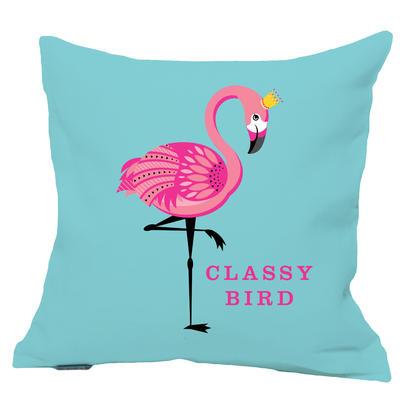 Classy Bird Flamingo Reversible Cushion
