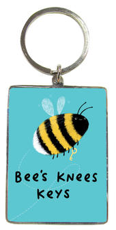 Bee's  Knees Keys Metallic Keyring