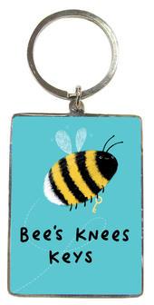 Bee's  Knees Keys Metallic Keyring