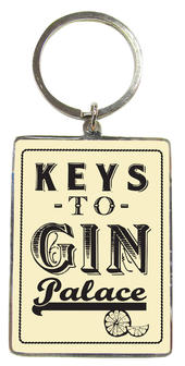 Keys To Gin Palace Metallic Keyring