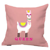 Llama Queen Reversible Cushion