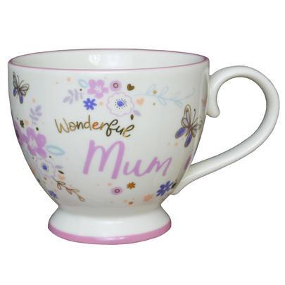 Wonderful Mum Jumbo Teacup Gift