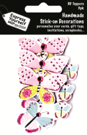 Butterflies Pack Of 3 DIY Greeting Card Toppers