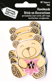 Teddy Bear Pack Of 3 DIY Greeting Card Toppers