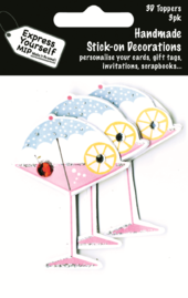 Martini Cocktail Pack Of 3 DIY Greeting Card Toppers