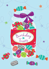 Birthday Treats Birthday Greeting Card