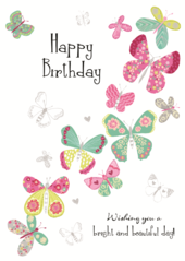 Birthday Butterflies Birthday Greeting Card