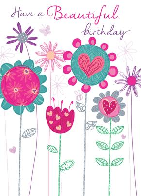 Beautiful Birthday Greeting Card